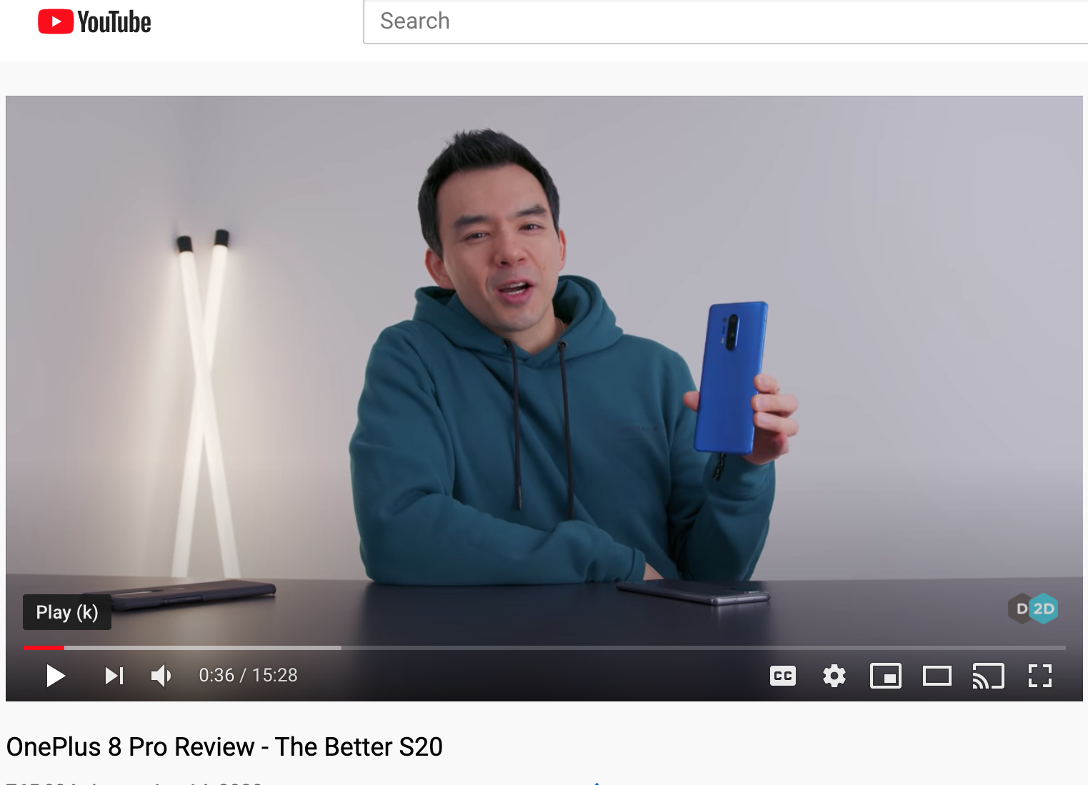 OnePlus 8 Pro Review by Dave Lee (Dave2D)